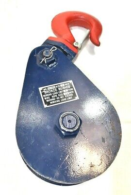 Bronze Bushed H418bb Snatch Block Whook. 8 Ton 8 Sheave 34 Wire Rope Size