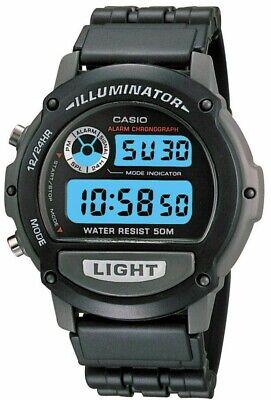 Casio Illuminator Digital Mens Sport Watch W-87H 1536 Quartz Chronograph Black