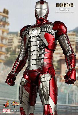 Toy Armor (Hot Toys Iron Man Mark V MK5 12 Inch 1/6 Scale MMS145 Tony Stark Suitcase)