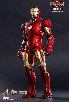 """Hot Toys 1/6 12"""" MMS256 D07 Iron Man Mark III Robert Downey Jr Diecast Figure"""