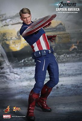 NEW HOT TOYS AVENGERS CAPTAIN AMERICA 1/6 SCALE FIGURE-MMS174-RARE