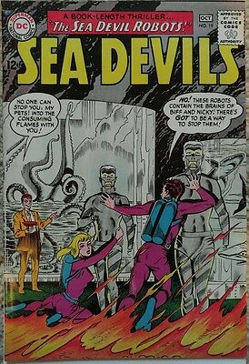SEA DEVILS #19 VF+ 8.5 DC 10/1964