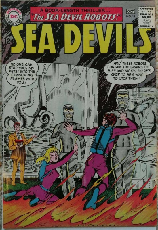SEA DEVILS #19 VF+ 8.5 DC 10/1964