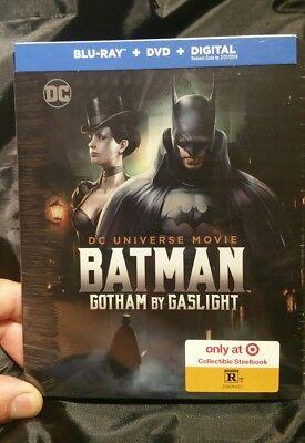 《☆》NEW Batman Gotham by Gaslight Steelbook (Blu-ray,DVD,Digital)Target Exclusive