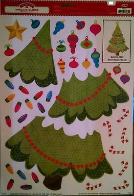 Holiday Time Window Decorations Clings Build a Christmas Holiday Tree