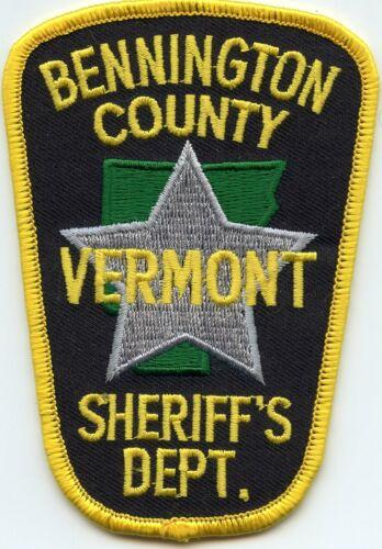 BENNINGTON COUNTY VERMONT VT SHERIFF POLICE PATCH
