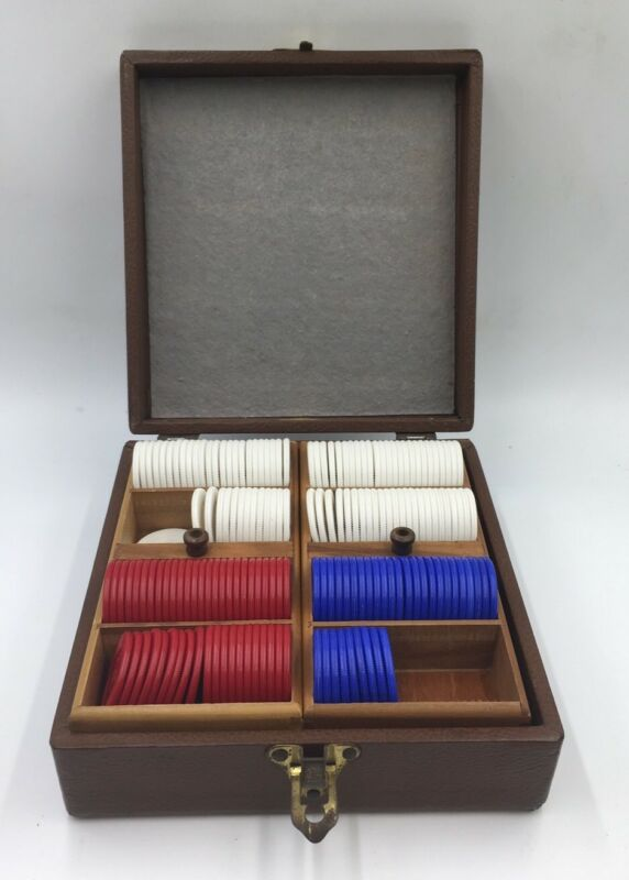 Vintage Lowe Poker Chips and Case