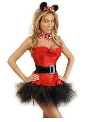 Daisy Corsets Womens Adult 5 Piece Sexy Miss Mouse Halloween Party Costume, 2XL](Missy Mouse Halloween Costume)