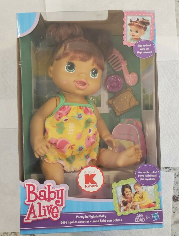 Baby Alive Pretty in Pigtails Baby - New