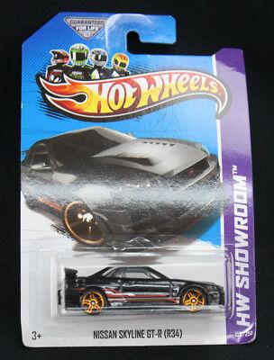 Mattel Hot Wheels HW Showroom 2013 Black Nissan Skyline GT-R (R34) 158/250 MOC