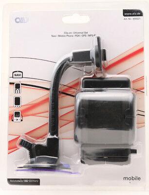 AIV Universal Set Kfz-Halterung Saugerhalter Handy iPhone PKW Halterung Navi 120
