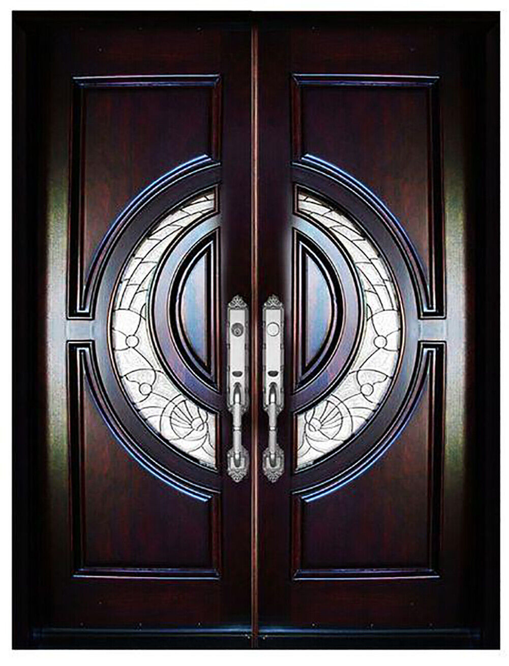 Solid Wood Front Door Entry Door Unit Pre-hung &Finished Dou