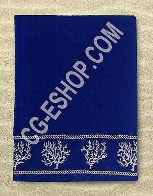 TELO MARE NIDO D'APE 90X160 asciugamano no spugna no microfibra CORALLO BLUETTE