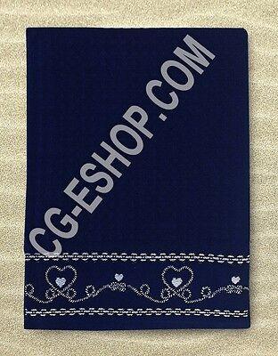 TELO MARE NIDO D'APE 90X160 asciugamano no spugna no microfibra CUORE BLU