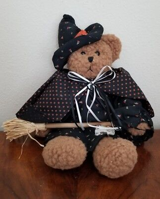 Halloween Witch Bear Hand Crafted - Halloween Witch Hand Craft