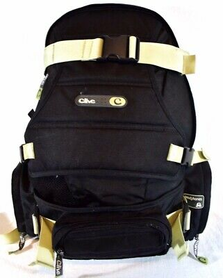 Clive Backpack For Skateboard, Snowboard, Skiing- Black / Tan - FAST SHIPPING!!!