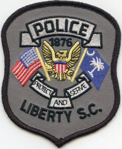 LIBERTY SOUTH CAROLINA SC POLICE PATCH