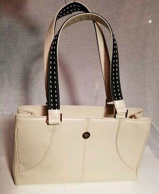 Gianni Versace medusa White Leather  nice Hand bag #20