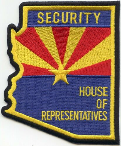 ARIZONA AZ STATE shape shaped HOUSE OF REPRESENTATIVES SECURITY police PATCH