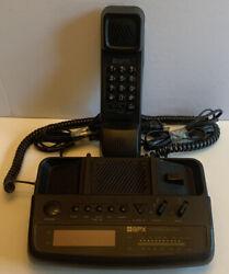 Nice GPX Black Corded Telephone AM/FM Radio Alarm Clock Tested DX800D (Vintage)
