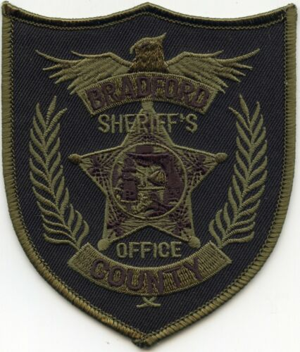 BRADFORD COUNTY FLORIDA FL subdued green SHERIFF POLICE PATCH