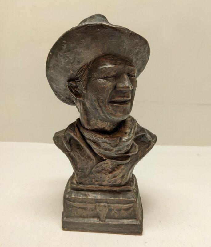 JOHN WAYNE AMERICAN HERO BUST BY BILLY BURNS 1979 WESTERN AMERICANA SCULPTURE