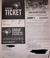 Two Giants vs Blue Jays tickets for April 23,2019 @7:07 for $120