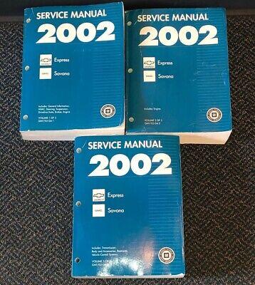 Express Shop (2002 EXPRESS SAVANA Service Shop Repair Workshop Manual OEM BOOKS ~ SHIPS)