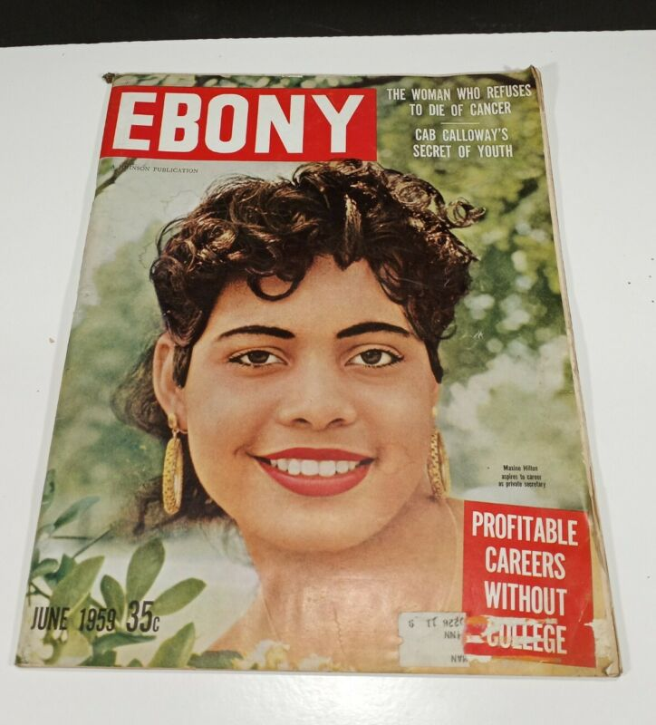 Vintage June 1959 Ebony Magazine Maxine Hilton