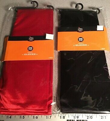 Hyde & Eek Adult Elbow Length Long Gloves Red or Black Halloween Costume Flapper - Flapper Gloves Black
