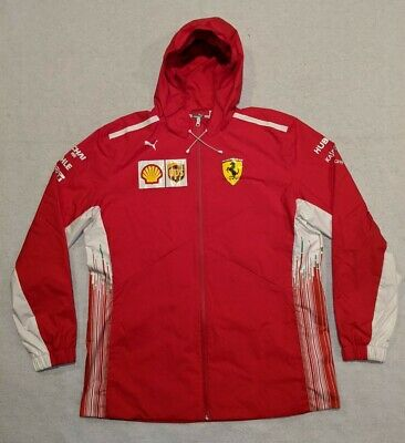 90s PUMA Scuderia Ferrari Zip Up Hoodie Racing Jacket Men's size 2XL 762365-01