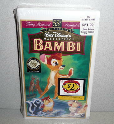 Masterpiece Collection Walt Disney's 55th Anniversary BAMBI VHS *Sealed Unused