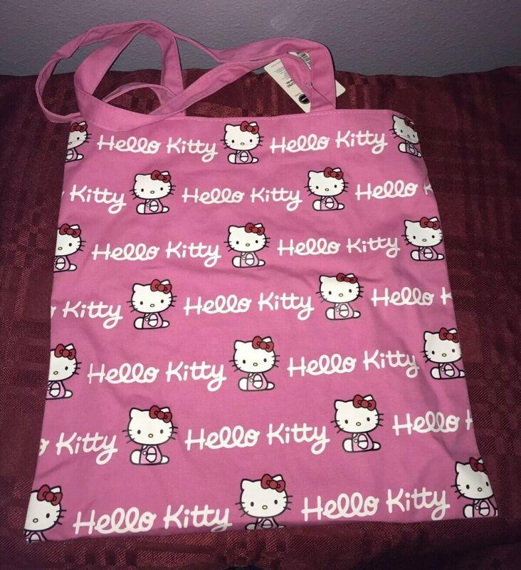 Sanrio Hello Kitty Pink Cotton Tote Bag NEW