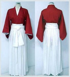 Rurouni Kenshin Cosplay Costume Himura Kenshin Kendo Kimono party