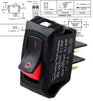 Carling Technologies Rsca201-vb-b-9-v Switch Rocker Spst 20a 125v