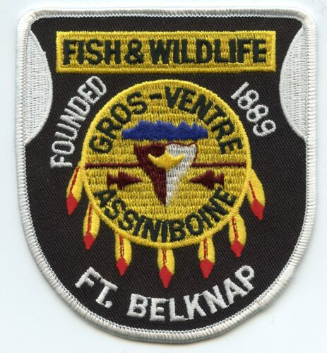 FORT BELKNAP MONTANA MT FISH AND WILDLIFE GAME WARDEN TRIBAL POLICE PATCH