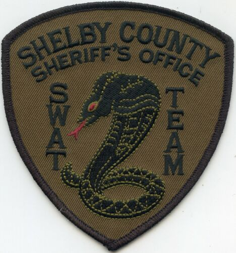 SHELBY COUNTY TENNESSEE TN Subdued Dark Green SWAT SHERIFF POLICE PATCH
