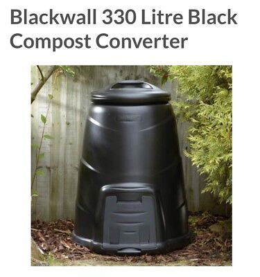 Blackwall 330L Composter Converter & Base Plate - Black
