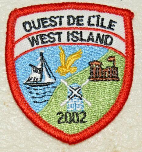 OUEST DE L'ILE WEST ISLAND 2002 Boy Scout Uniform Badge Canadian (QCO2A)