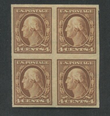 1909 US Stamp #346 4c Mint Never Hinged Very Fine Block of 4