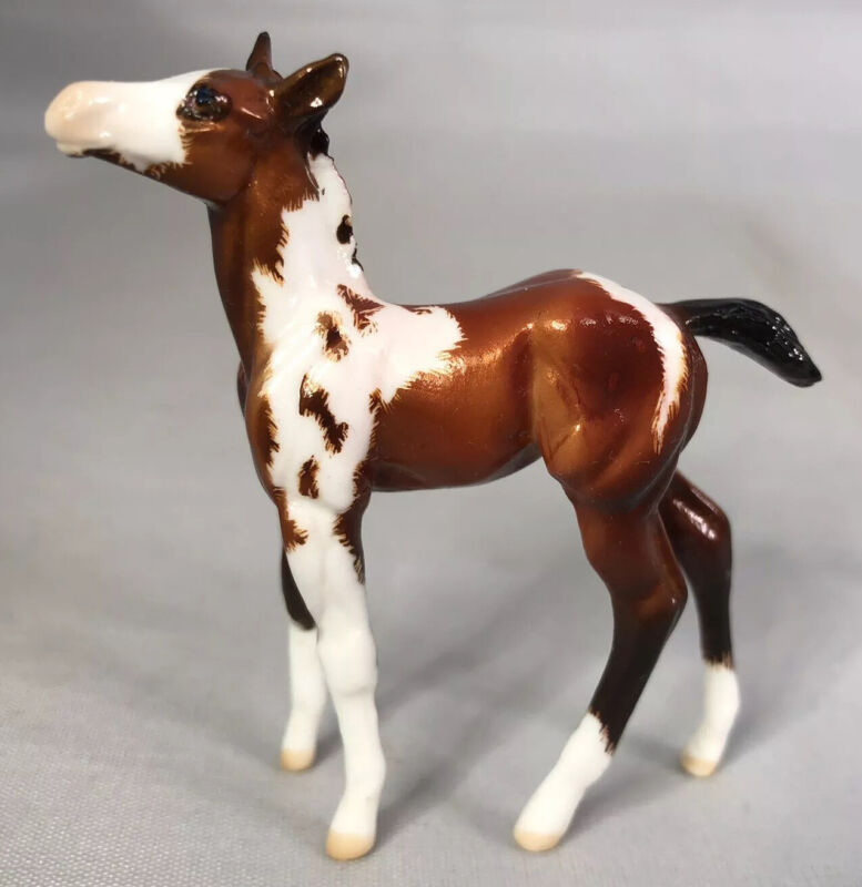 Peter Stone Foal Chip Horse SHIAWASSEE OOAK 2017 Pinto Etching Gloss!