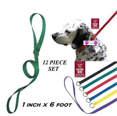 12-Guardian Gear Pet NYLON No SLIP KENNEL LEAD QuickFit LEASH ANIMAL DOG CONTROL