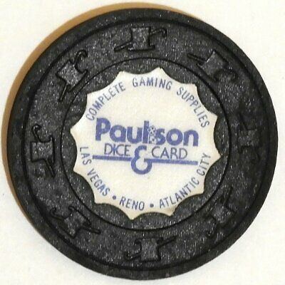 Paulson Dice & Card Gaming Supplies Company Co Ad Advertising Casino Chip
