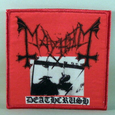 "Authentic MAYHEM Deathcrush Sew Glue Iron On Patch 3.75/"" x 3.75/"" NEW"