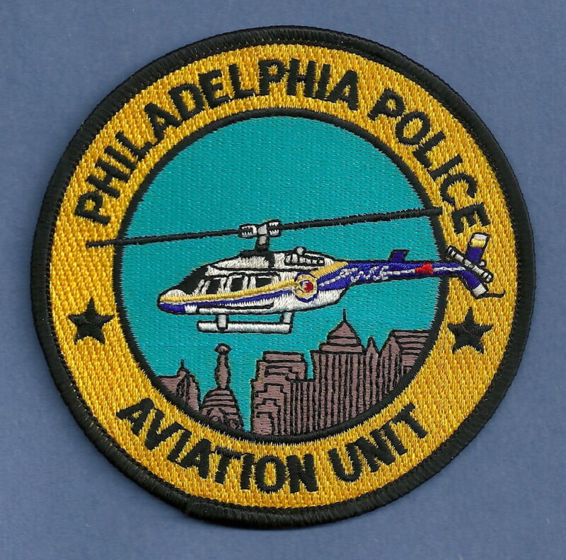PHILADELPHIA PENNSYLVANIA POLICE HELICOPTER AIR UNIT SHOULDER PATCH