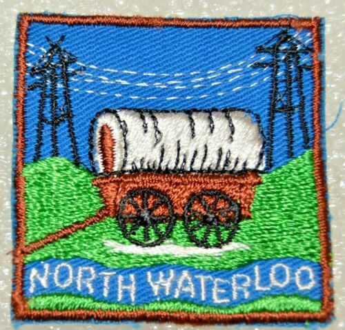 NORTH WATERLOO DISTRICT Wagon Tongue To Border Edge Boy Scout Badge Cdn. (ONN3G)