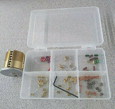 Rare 7 Pin Pin Your Own Lock Cylinder. Schlage Keyway With Pins Springs Kit