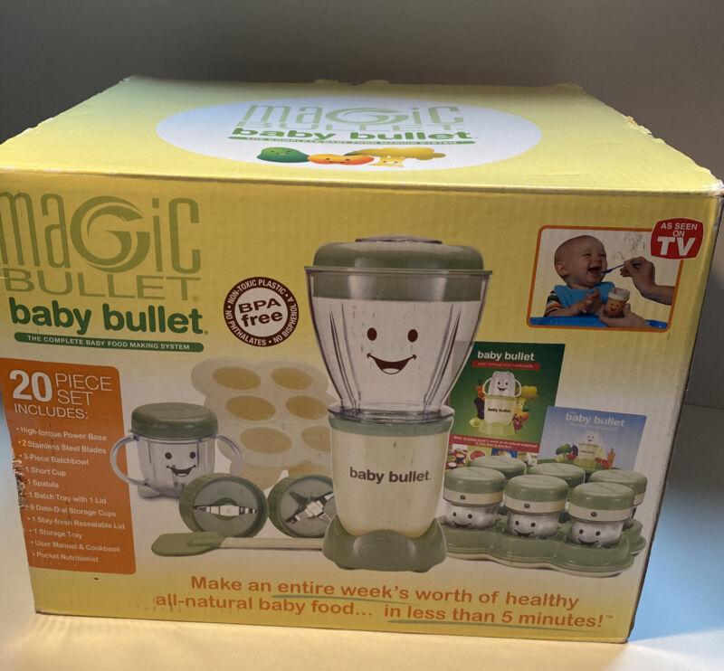 Magic Bullet BABY Bullet Set Baby Food Maker Blender BPA-Free.  READ DESCRIPTION