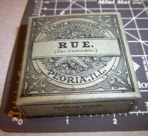 Vintage Allaire Woodward, RUE, 1900s Pharmacy New unopened box NOS