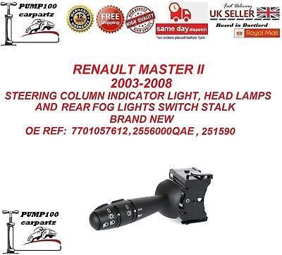 RENAULT MASTER II MK2 2003-2008 STEERING COLUMN INDICATOR LIGHT SWITCH STALK NEW